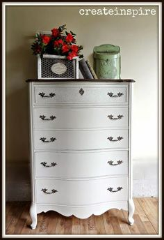 {createinspire}: Chest of Drawers in Wheat Bread (Behr) [[[Does mom still have our old old old dresser like the original of this? I always looked at it as a sentimental keep, but it could be redone this way. Furniture Update, Home Decor Furniture, Furniture Projects, Furniture Making, Furniture Makeover, Cool Furniture, Cottage Furniture, Painted Furniture For Sale, Upcycled Furniture