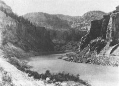 love this old picture of what I think is Glenwood Canyon (though it seemed to have a different name then)