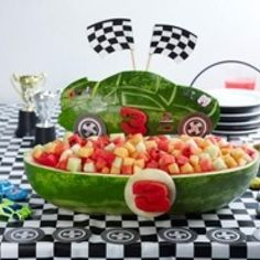 So cute for a little boys birthday party! And to top it off... it's healthy!