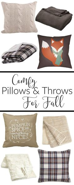 SO many cute and comfy pillows and throws to curl up with this Fall. Love these for some fun fall decor in my home.