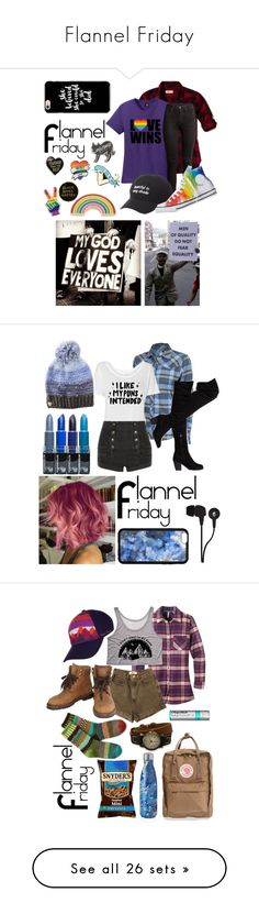 """""""Flannel Friday"""" by a-valen ❤ liked on Polyvore featuring Georgia Perry, Hollister Co., Charlotte Russe, Converse, Club Ride, Pierre Balmain, Betsey Johnson, Skullcandy, Mountain Khakis and American Apparel"""