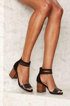 85f3f7320f0 Strap the World Suede Heel - Black Suede Heels