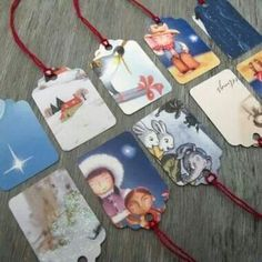 Old christmas cards as gift tags.