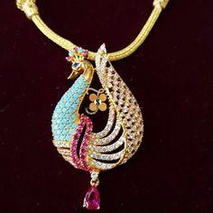 22ckt, peacock pendant, sanghavi jewellers, sanghaviraj01@gmail.com
