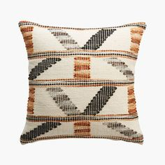Modern Spanish Decor, Doors And Floors, Hm Home, Desert Colors, Warm Colors, Crate And Barrel, Pillow Inserts, Decorative Throw Pillows, Black And Grey