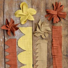 How to: Burlap Flowers