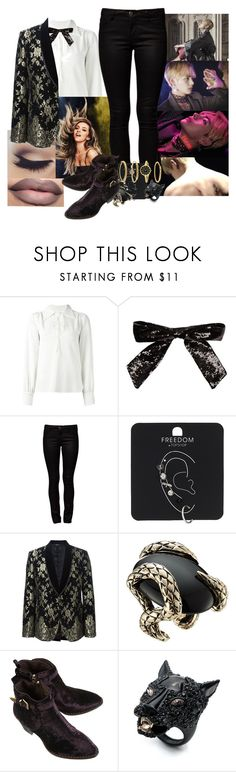 """Blood, Sweat and Tears Female BTS - V"" by elliepetkova ❤ liked on Polyvore featuring See by Chloé, Yves Saint Laurent, ONLY, Topshop, Dolce&Gabbana, Roberto Cavalli, Alexis Bittar and Anne Klein"