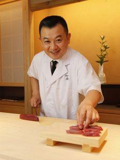Ginza Koju chef OKUDA TORU greeting. Ginza, Japanese Kaiseki (course menu), Japanese SAVOR JAPAN -Japanese Restaurant Guide-