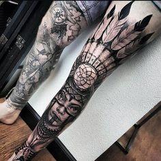 Tribal Tattoos, Indian Feather Tattoos, Tattoos Geometric, Tribal Tattoo Designs, Tattoo Sleeve Designs, Tattoo Designs For Women, Trendy Tattoos, Tattoos For Guys, Cool Tattoos