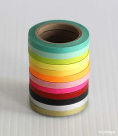 Ultra Thin Washi Tape Chugoku (Set of 4 - any mix) - Solid - Washi Tape Cute Office Supplies, Party Supplies, Craft Supplies, Tapas, Duct Tape, Masking Tape, Washi Tapes, Cinta Washi, Unique Valentines Day Gifts
