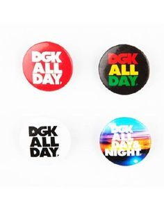 DGK ALL DAY Button Set