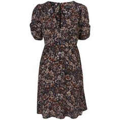 Purple Winter Floral Print Dress Topshop