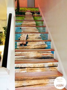 A wooden bridge #sticker for your #stairs!