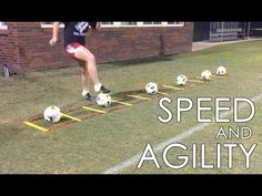 Training Drills: Learn aboutb Individual Soccer Speed and Agility T.Football Training Drills: Learn aboutb Individual Soccer Speed and Agility T. Soccer Footwork Drills, Football Training Drills, Soccer Drills For Kids, Football Workouts, Soccer Skills, Youth Soccer, Soccer Boys, Play Soccer, Soccer Cleats