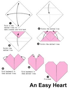 Hope you like the origami patterns! :) I and trying to put together an archive of origami diagrams for you and me to enjoy! Origami Design, Origami Guide, Instruções Origami, Origami Tattoo, Dollar Origami, Origami Ball, Origami Bookmark, Paper Hearts Origami, Easy Origami Heart
