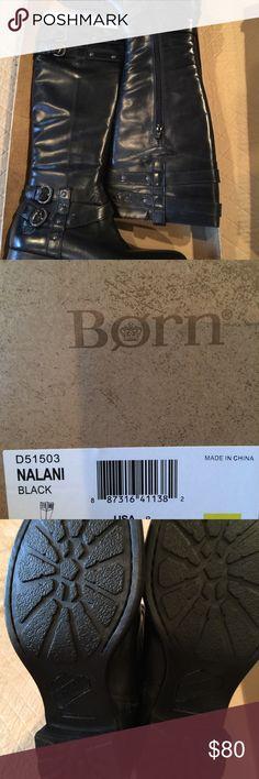 Born size Nalani black boot NWB Born Nalani black boot in size 8 NWB never worn Born Shoes Winter & Rain Boots