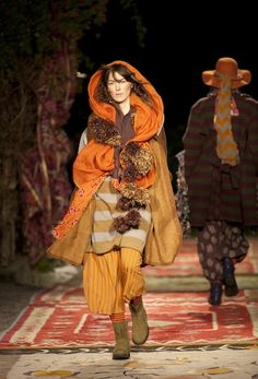 That's Not My Age: Scandinavian Style: Gudrun Sjodén- layered autumn colors