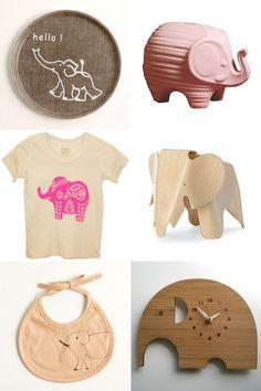 elephant nursery decor...I made an elephant clock in middle school!