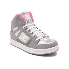 Get a grip on the new Rebound Skate Shoe from DC! This exclusive Rebound Skate Shoe rocks a hi-top design constructed with synthetic leather uppers, breathable perforations on the toe, and printed toe and heel overlays for durability.  <b>Only available at Journeys Kidz!</b>  <br><br><u>Features include</u>:<br> > Synthetic leather upper with perforated toe for breathability<br> > Lace closure offers a secure fit<br> > Padded tongue and collar for stability and comfort<br> > Elastic…