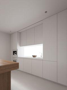 SA apartment on Behance Loft Interior Design, Loft Design, Home Room Design, Küchen Design, Interior Architecture, House Design, Modern Design, Bright Apartment, White Apartment