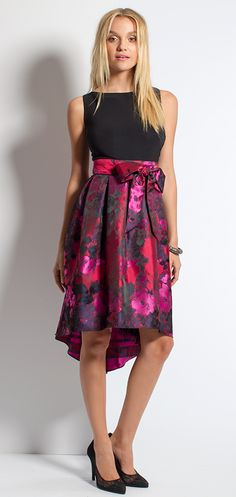 Hi-Low Brocade Dress