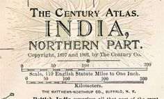 Indian Map 1902: Historical Map from Northern India