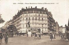 place Maubert - Paris 5ème Autre vue de la place Maubert et le boulevard Saint-Germain vers 1900.