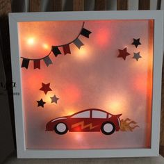 [Plotter-Anleitung] picture frame multicolored bekleben ♥ - Home Page 3d Folie, 3d Picture Frame, Fluorescent Lamp, 3d Pictures, Silhouette Portrait, Fairy Lights, Night Light, Diy Gifts, Frames