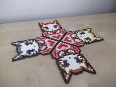 Cats' Coasters by beadstoterabithia on Etsy, €12.00