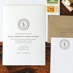 simple modern #monogram #wedding #invitation #details #stationery #design