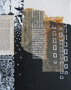 "& doesn& add up"" mixed media on canvas anca gray 2013 Art Du Collage, Collage Art Mixed Media, Mixed Media Painting, Mixed Media Canvas, Painting Canvas, Canvas Collage, Painting Collage, Encaustic Painting, Acrylic Paintings"