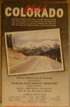 vintage map of Colorado from 1942 by theevintageshop on Etsy, $12.95