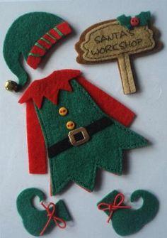 Elf Decorations, Felt Christmas Decorations, Felt Christmas Ornaments, Christmas Elf Doll, Christmas Projects, Kids Christmas, Christmas Applique, Ornament Crafts, Felt Crafts