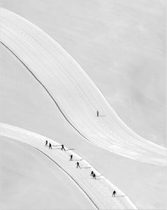 Oh, how I love sport photography (especially when it is downright artful). This shot by Peter Svoboda of cross-country skiers in the Austrian Alps is a sublime example. Beautiful geometry/angles and crispy textured tracks…