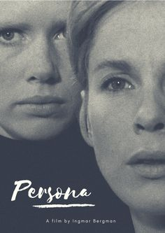 """Persona"", film by Ingmar Bergman, with Liv Ullmann and Bibi Andersson.  Design by Elizangela Silva"
