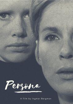 """Persona"", film by Ingmar Bergman, with Liv Ullmann and Bibi Andersson.  Design by Elizangela Silva"