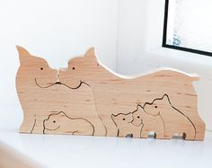 Holz Puzzle Frosch  Waldorf Holz Tiere  Lernspielzeug