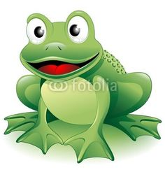 Cartoon Frog-Vector © bluedarkat