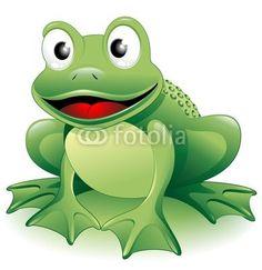 Cartoon Frog-Vector © bluedarkat