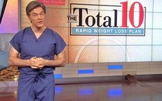 Dr. Oz said his Total 10 rapid weight loss diet helped dieters lose 8 to 20 pounds in 2 weeks.