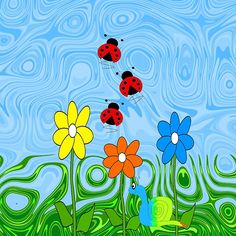 Ladybugs On A Summer Day