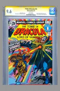 CGC SS 9.6 Tomb of Dracula #44 with Doctor Strange signed by Stan Lee now on www.vaultcollectibles.com. #stanlee #doctorstrange #dracula
