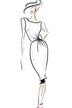 Fashion illustration - chic fashion design sketch