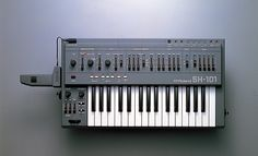 Proving that Roland was as stylish as it was advanced, the SH-101 ran on batteries and you could wear it! In a decade dominated by outlandish fashion, the SH-101 was designed for posing on stage. Bizarre hairstyle and makeup optional – and that was just for the guys. http://www.roland.co.uk/blog/beyond-retro