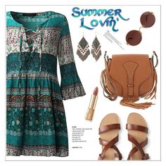 """""""Summer Lovin'"""" by christinacastro830 ❤ liked on Polyvore featuring Aéropostale, Valentino, Dolce&Gabbana, Red Camel and Cartier"""