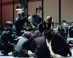 yohji and his team, cutting on the model, studio 2007. by thomas zanon-larcher