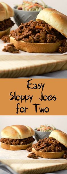 Sloppy Joes for Two. Meaty sloppy joes made in a small batch .. for two.