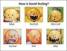 """David and his emotions, can be used to teach Ss emotions > assortment from all David collection books, not just """"No, David! Feelings Preschool, All About Me Preschool, Preschool Classroom, Kindergarten, Classroom Ideas, Preschool Education, Art Education, Social Emotional Activities, Emotions Activities"""