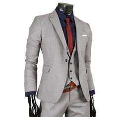 (GV501S-GRAY) Mens Business Slim Fit Dress Suits