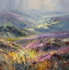 British Artist Rex PRESTON-View from Hallam Moors, Derbyshire